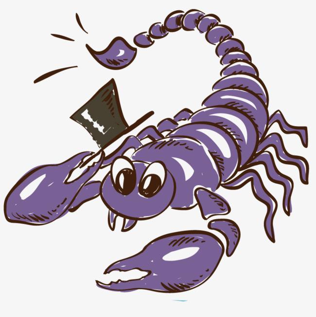 插画动物蝎子png素材-90设计