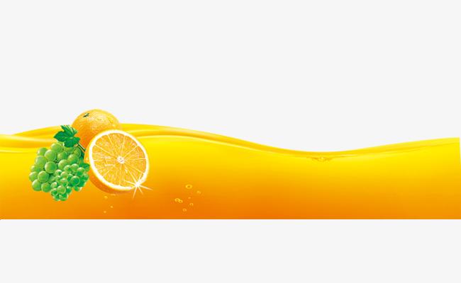 创意橙汁海报元素