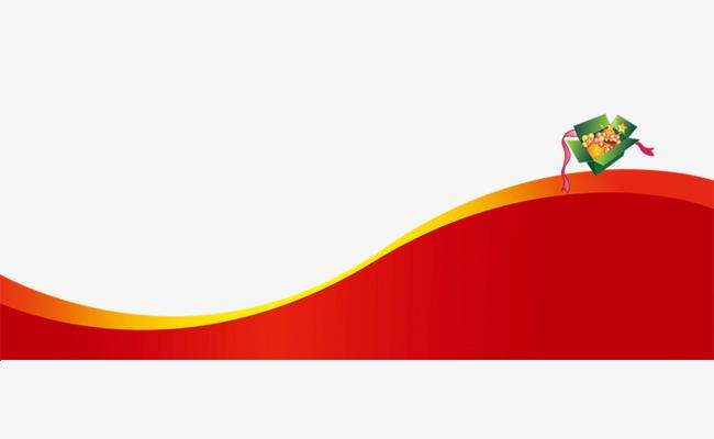 喜庆红色弧形边框