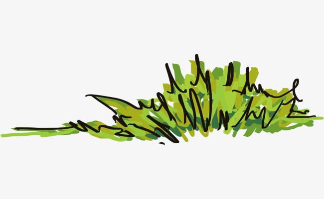 相册手绘小草装饰【高清装饰元素png素材】-90设计