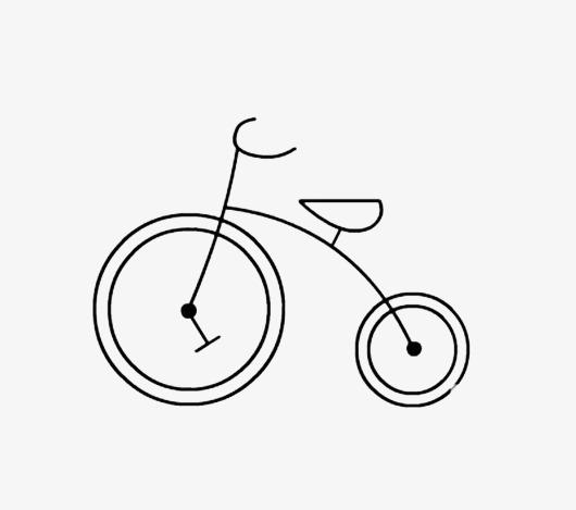 创意手绘自行车             此素材是90设计网官方设计出品,均做