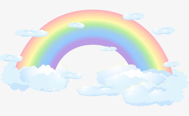 矢量卡通彩虹图片