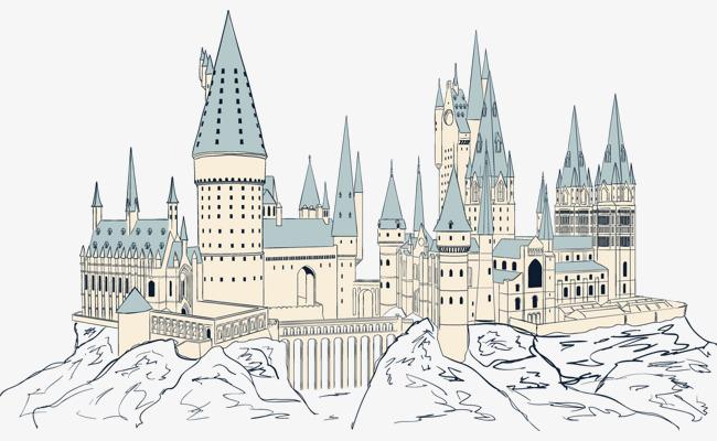 幼儿园城堡手绘图