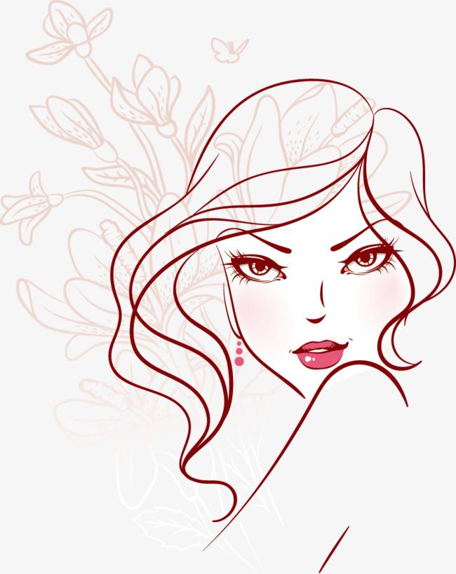 手绘花美人素材图片免费下载 高清卡通手绘psd 千库网 图片编号4910288