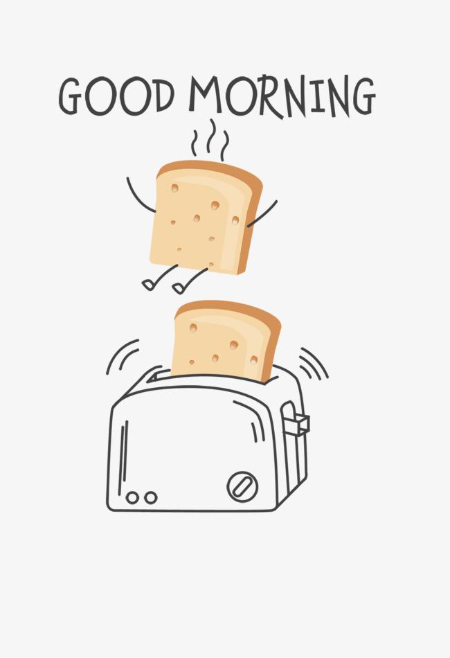 本次手绘面包机作品为设计师沃利贝尔(小熊家纸杯蛋糕)创作,格式为png