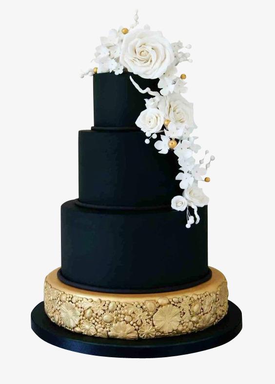 巧克力玫瑰花三层蛋糕图片