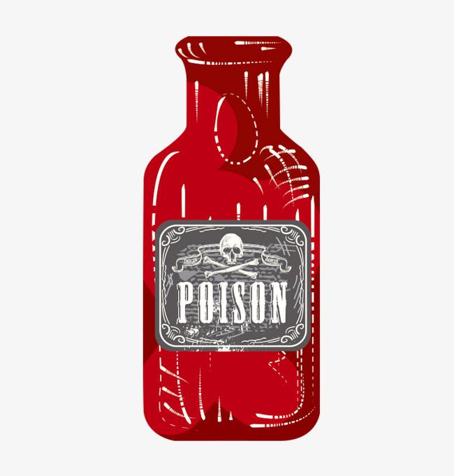 红色装饰瓶子png素材-90设计图片