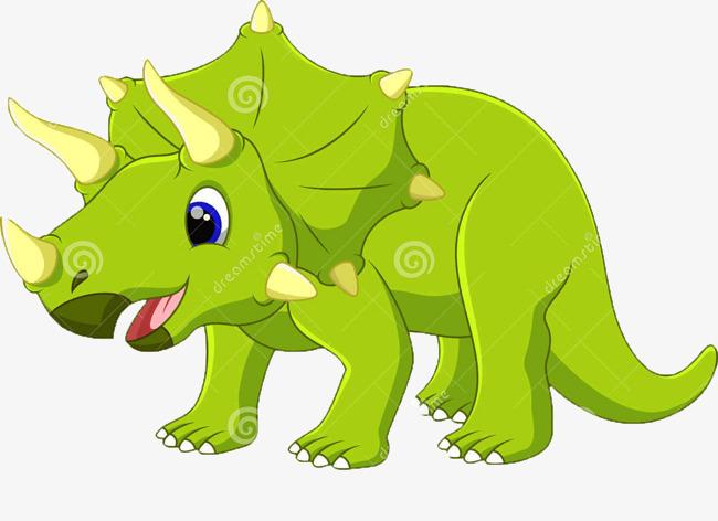 绿色可爱恐龙图片
