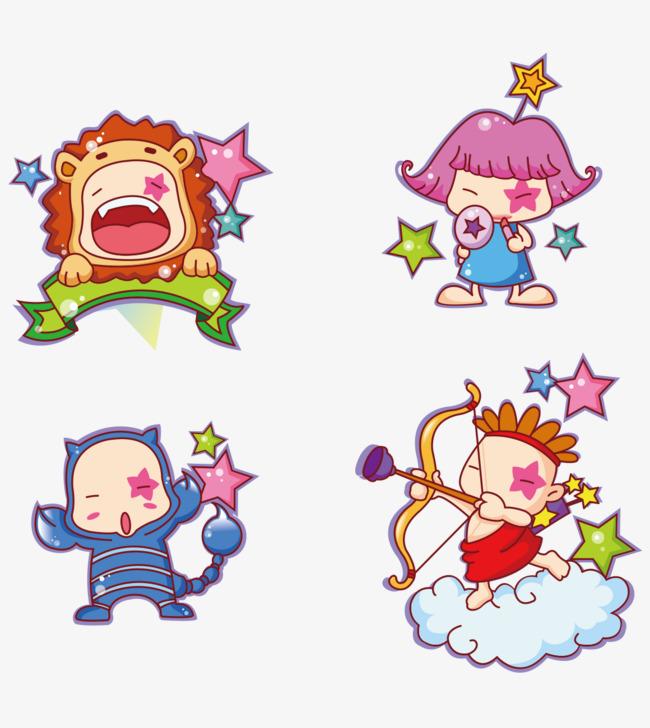 婴儿12星座12星座卡通人物