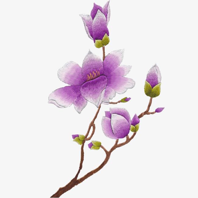 矢量绣花图案植物花卉绿叶树枝绣花图案-矢量绣花图案素材图片免费图片