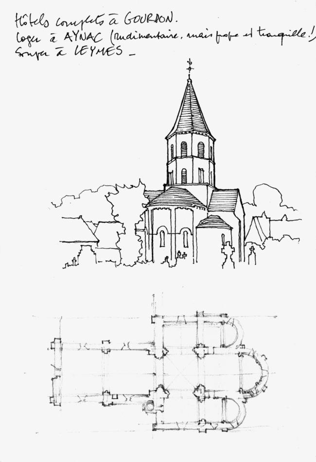 线描建筑风景图片