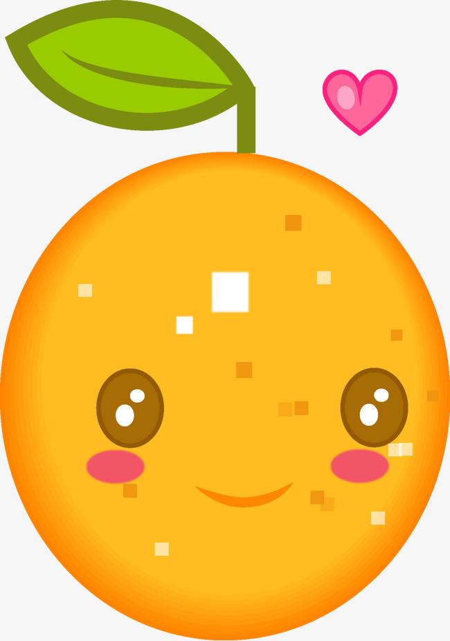 图片 > 【png】 卡通可爱橘子  分类:手绘动漫 类目:其他 格式:png