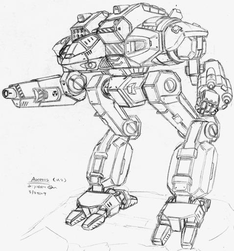 机器人手绘线稿
