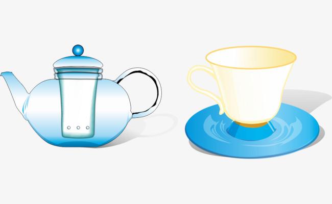 卡通手绘茶壶