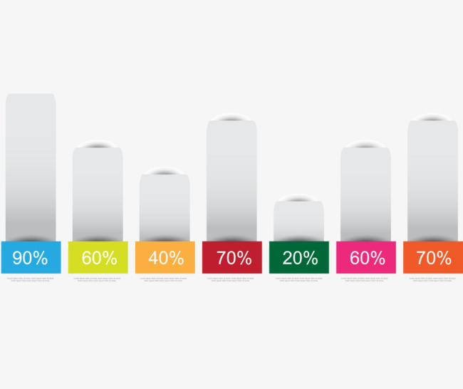 矢量ppt素材数据比例柱形图百分比