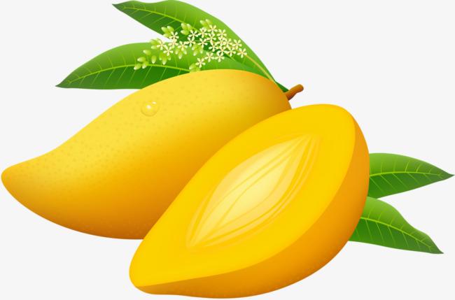 手绘黄色芒果