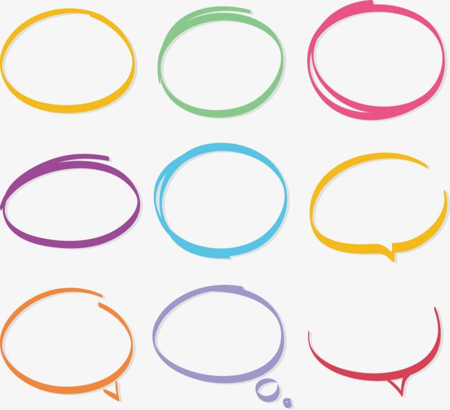 矢量手繪彩色對話框
