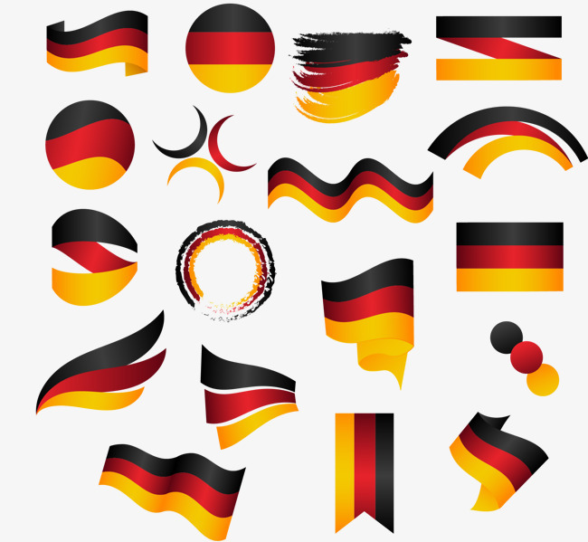 矢量手绘德国国旗