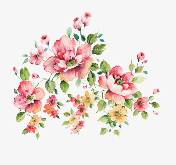 水彩手绘花卉