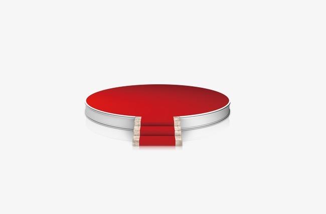 圆形红色舞台
