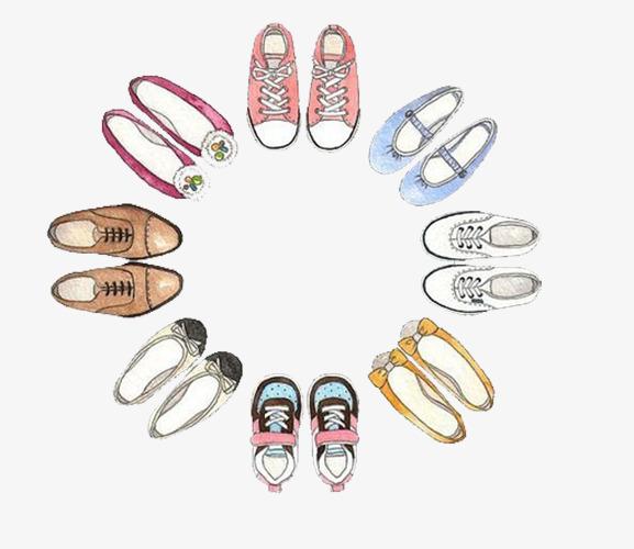 围成圈的女鞋素材图片免费下载 高清卡通手绘png 千库网 图片编号4955080
