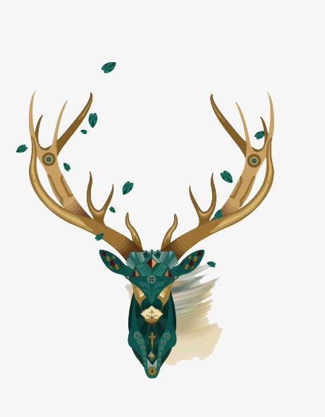 90设计提供高清png手绘动漫素材免费下载,本次手绘鹿角作品为设计师花