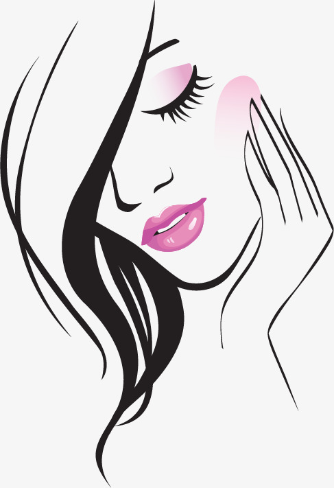 唯美 女性 女人 线条 人物 飘逸 性感美女手绘卡通女人手绘美人 妖艳