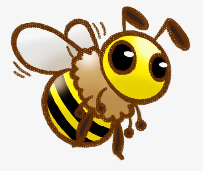 手绘黄色蜜蜂