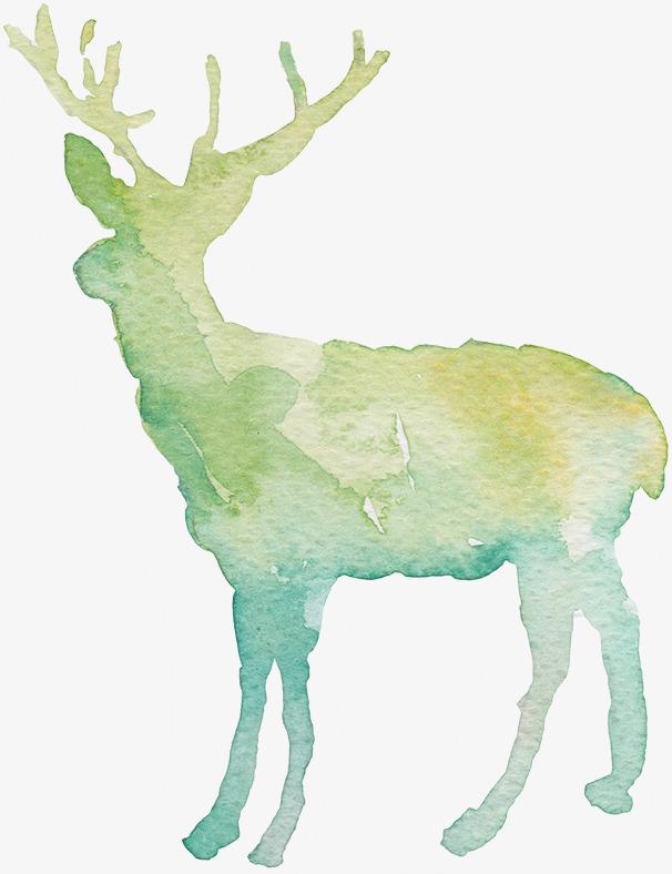 抽象麋鹿手绘素材