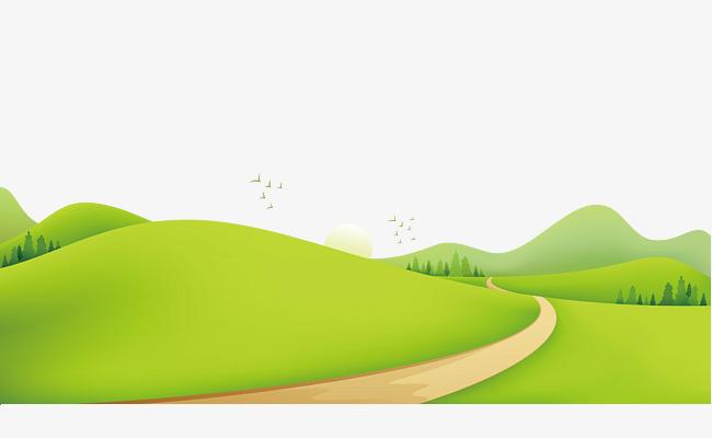 手绘草地小路