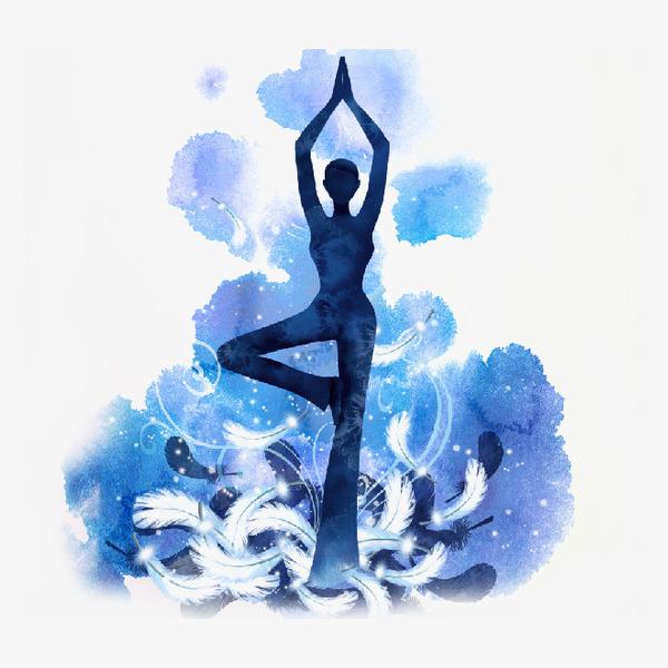 瑜伽海报图片素材图片免费下载_高清卡通手绘png_千库