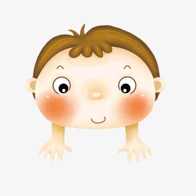 可爱卡通小男孩