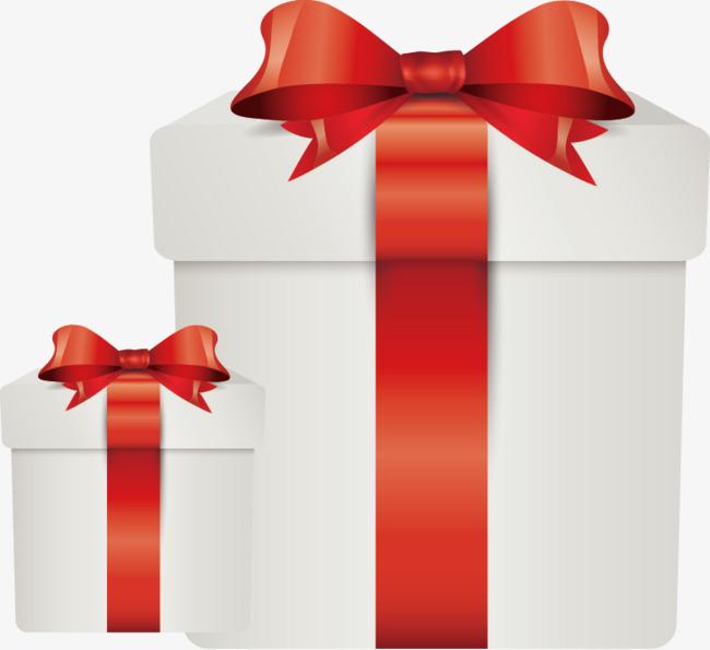 矢量手绘礼物包装蝴蝶结礼盒【高清装饰元素png素材】