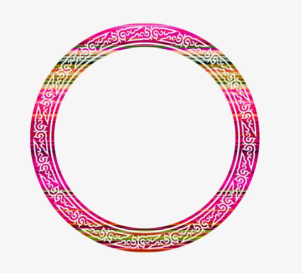 红色花纹圆圈