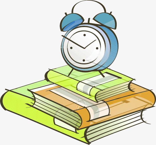 手绘书本闹钟