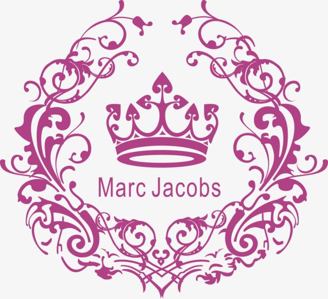 矢量花纹与皇冠婚礼logo