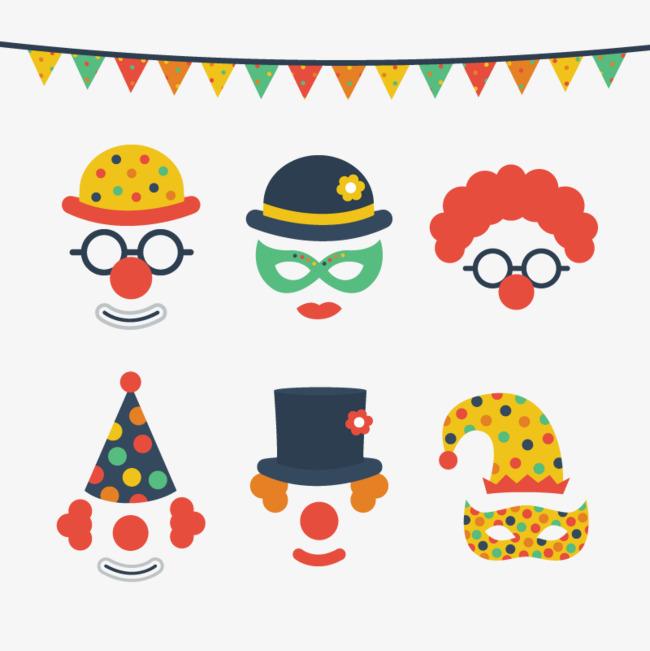 矢量小丑面具素材图片免费下载 高清装饰图案psd 千库网 图片编号