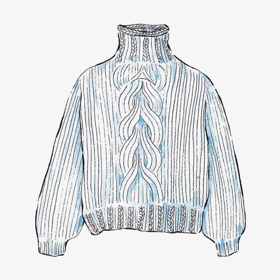 手绘水彩毛衣