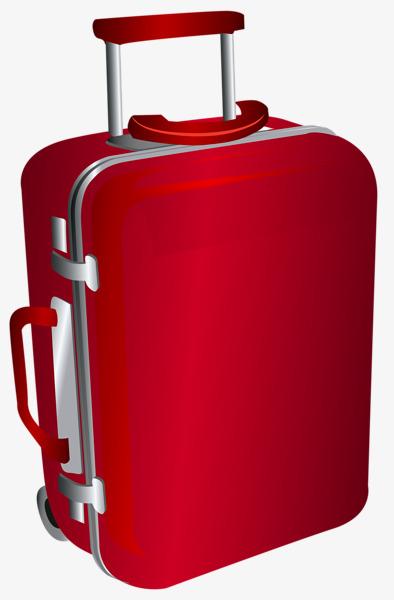 手绘红色行李箱