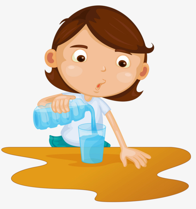 倒水的女孩素材图片免费下载_高清卡通手绘png_千库网(图片编号5017583)