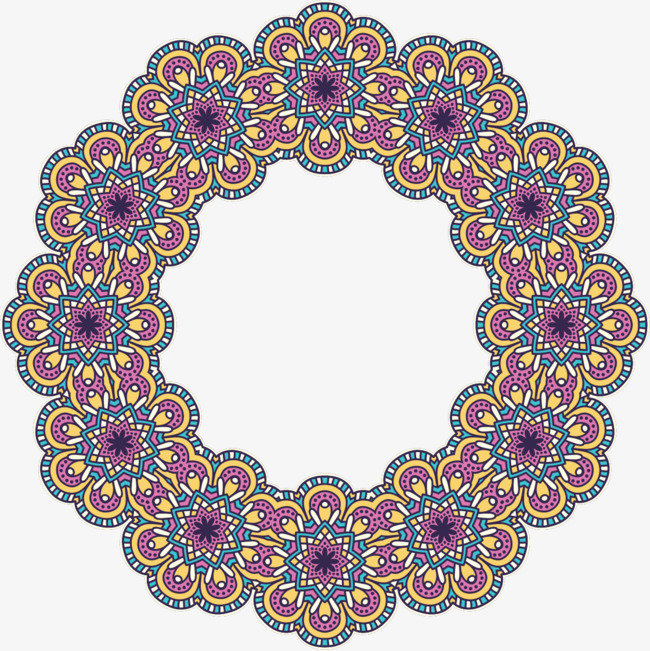 矢量手绘花纹图案