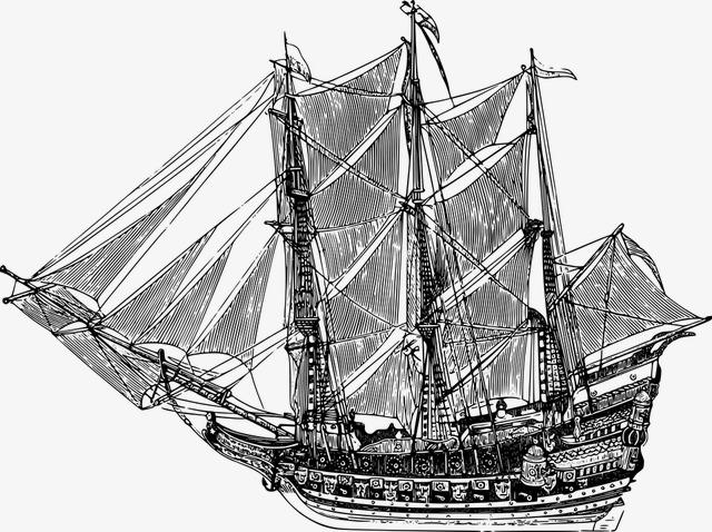 艺术手绘帆船