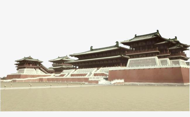 古建筑汉代建筑皇宫【高清png素材】-90设计