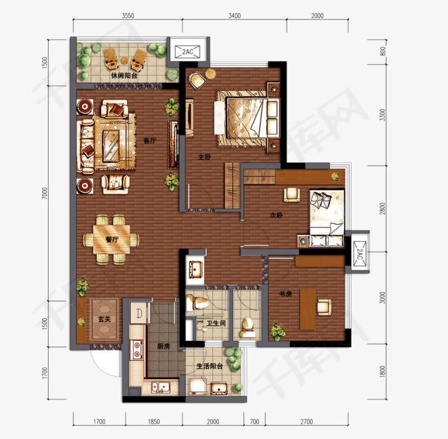 房屋建筑平面图素材图片免费下载 高清装饰图案png 千库网 图片编号5046880