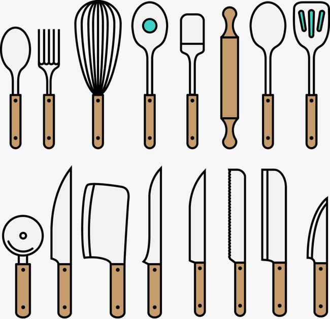 矢量手绘烘焙工具厨具