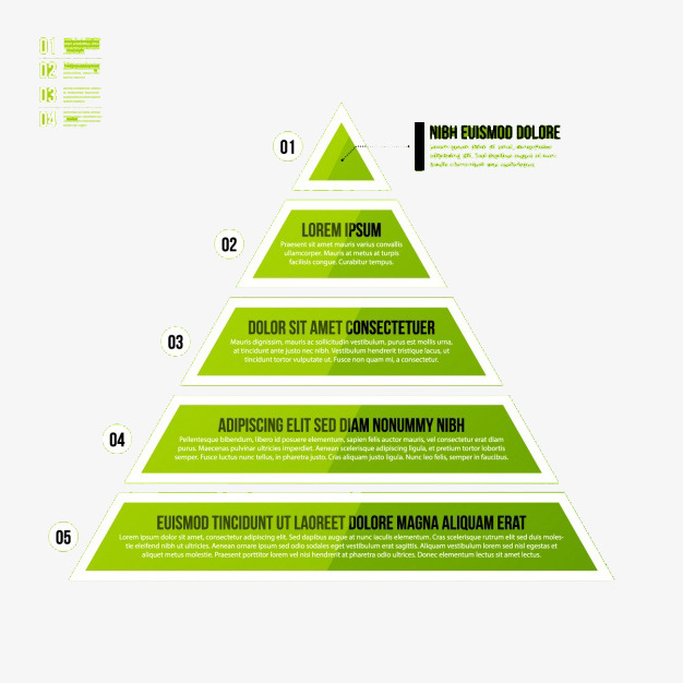 绿色金字塔png素材-90设计