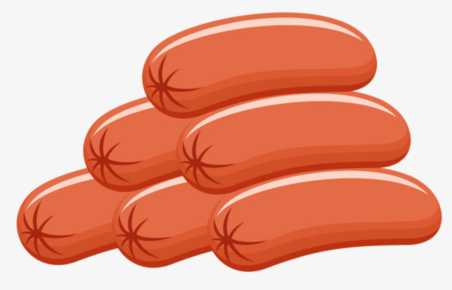 Picture Of A Cartoon Hot Dog