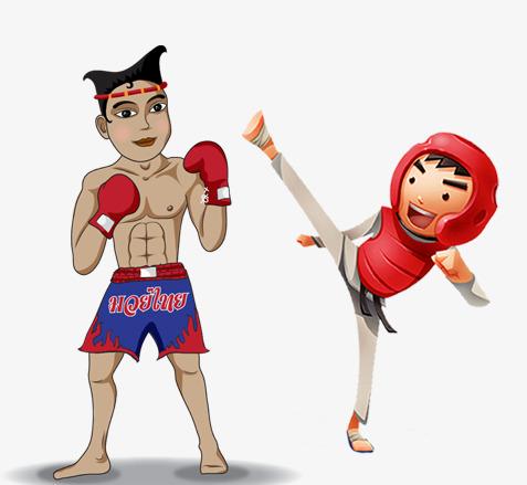 卡通人物跆拳道图片
