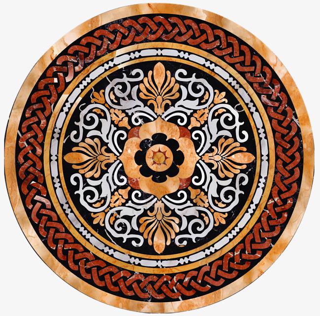 精美大理石圆形花纹地砖素材图片免费下载_高清装饰