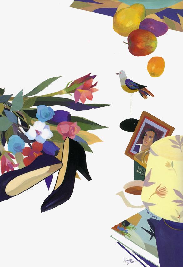 图片 > 【png】 手绘花朵鸟儿